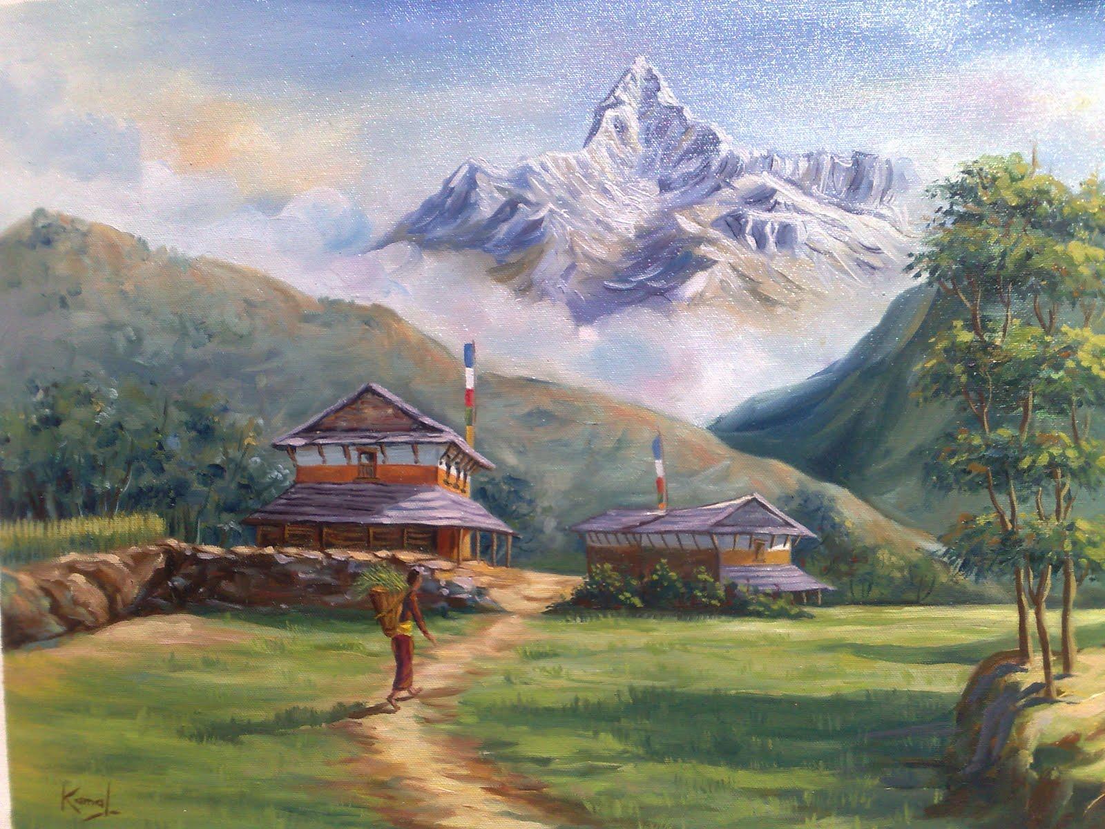 Lalitkala Creations: Beautiful watercolor landscape ...