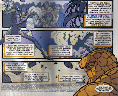 Ben spends the top half of this page bitching out the Kree, so don't think he's completely singled out the Skrulls.