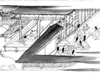 日本で描かれた逆遠近法