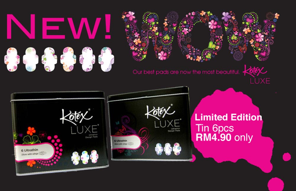 Be WOW-ed! by the New KOTEX® LUXE* - Joy 'N' Escapade