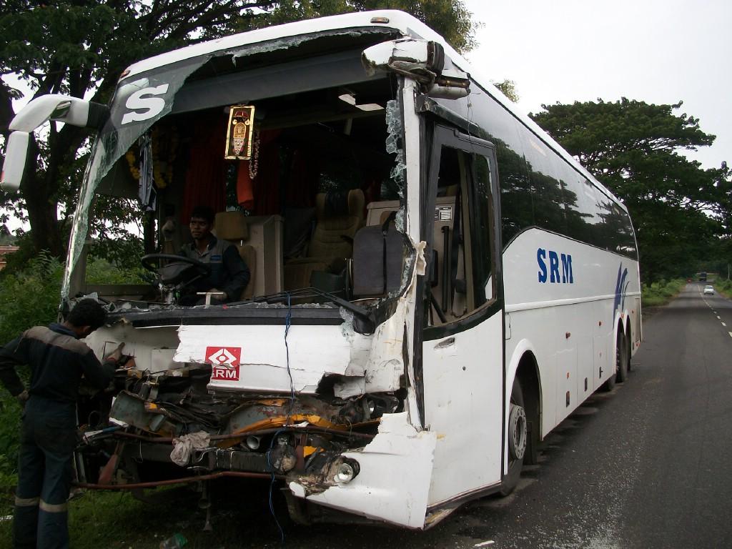 Volvo Bus Accident In India