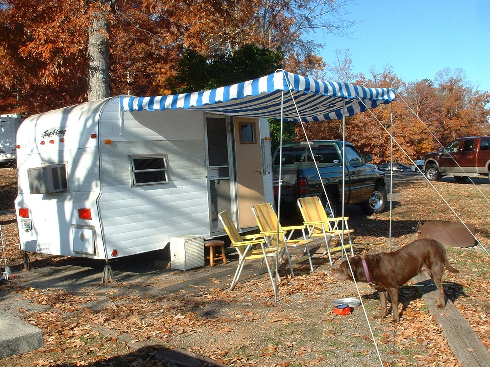Vintage Awnings Vintage Trailer Awning With Period