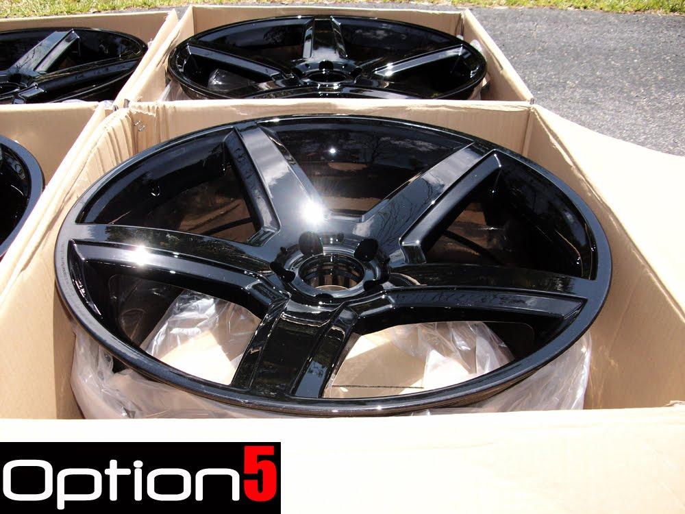 OPTION 5 WHEELS: Gloss Black Powder coated wheels, Some of ...