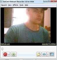 exibição webcam