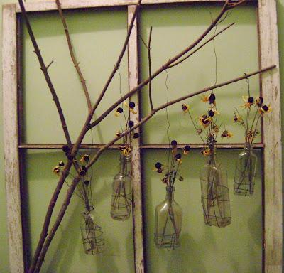 Sassytrash Window Frame Tree Branch Wall Display