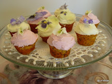 Candied Pansy Cupcakes