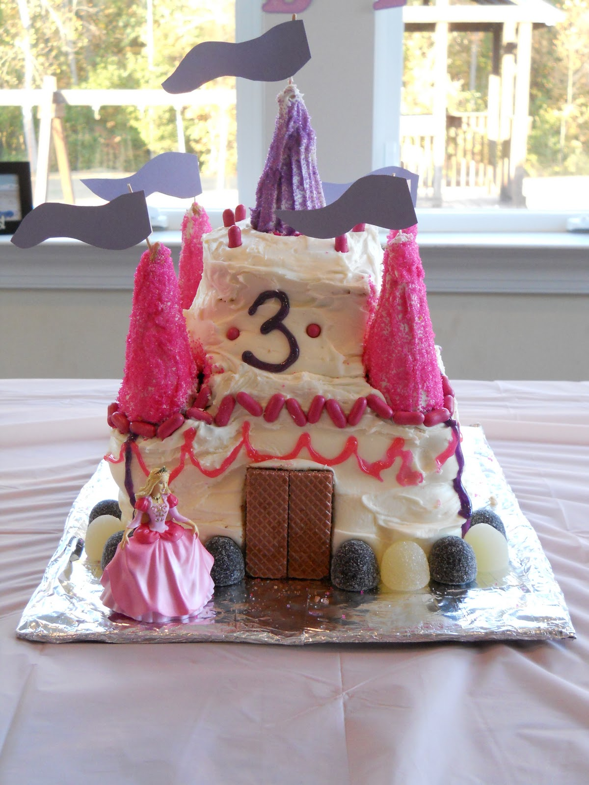 Ice Castle Cake From Frozen