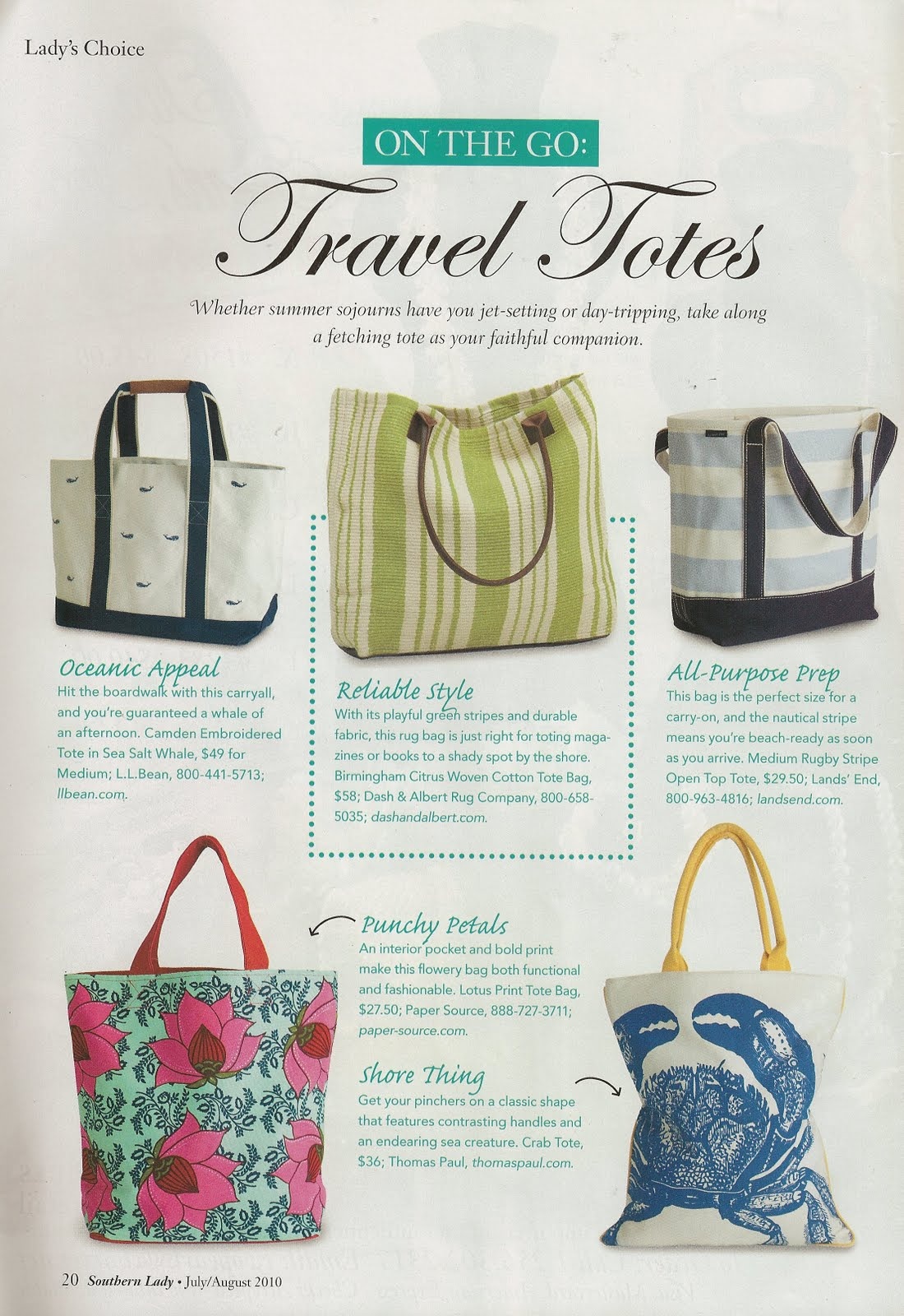 After I Won The Bag Was Excited To See That Latest Southern Lady Magazine Featured These Totes