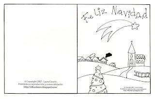 Tarjetas De Navidad Para Imprimir Y Colorear Tarjeta De Navidad