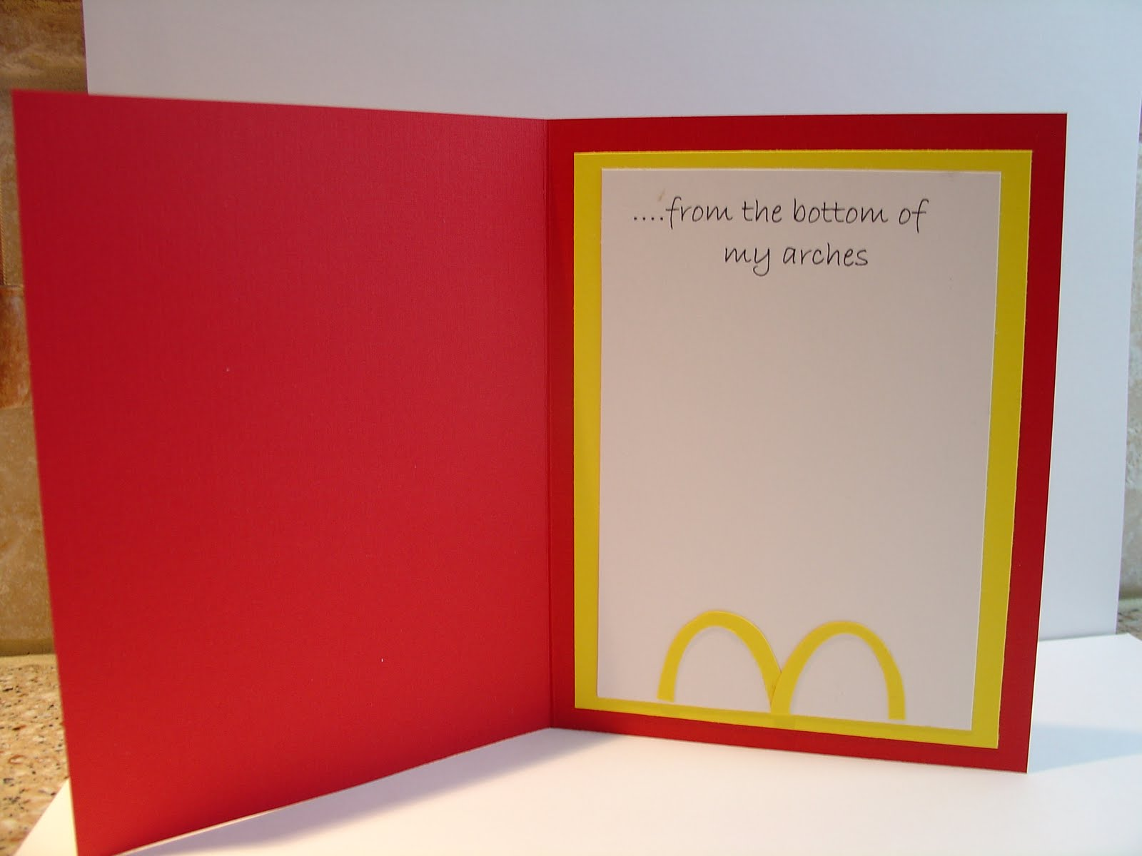 Mary s Craft Room McDonald s Thank You Card