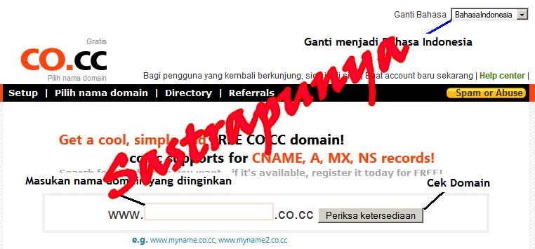 Web Hosting Gratis Server Eropa Dan Domain Gratis Sastrapunya
