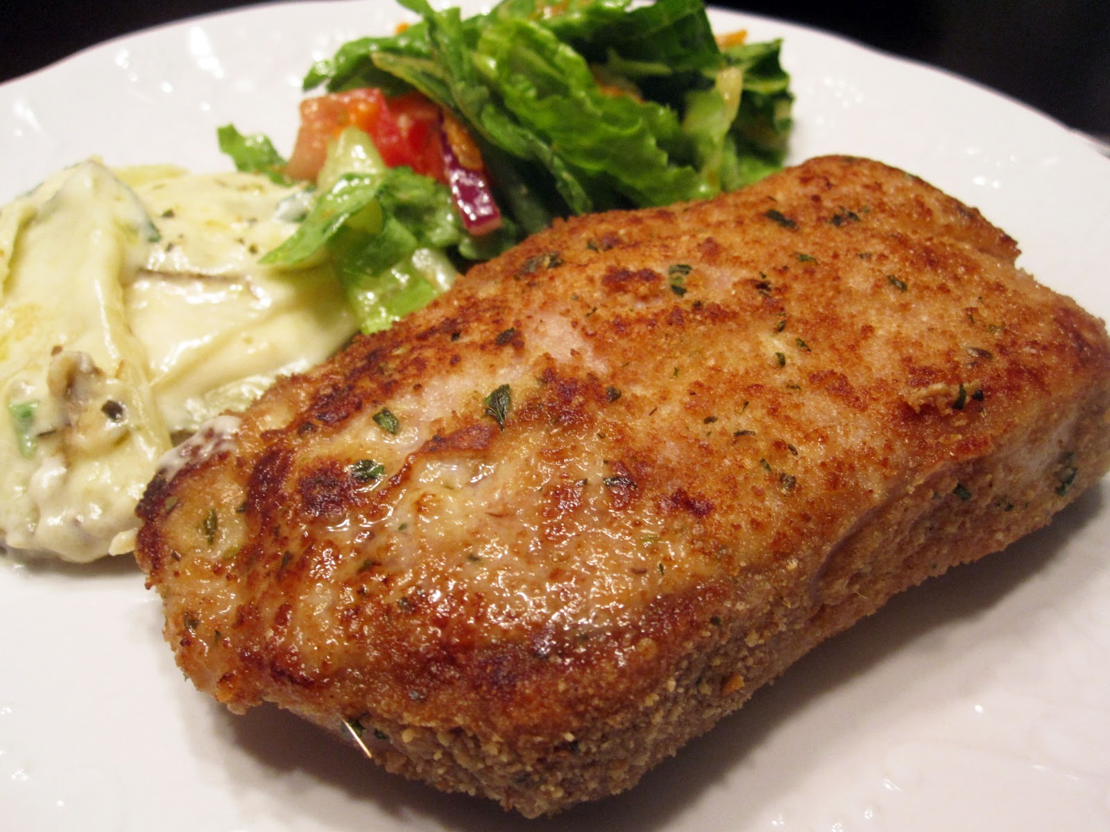 Just Putzing Around the Kitchen: Baked Italian-Style Breaded Pork Chops