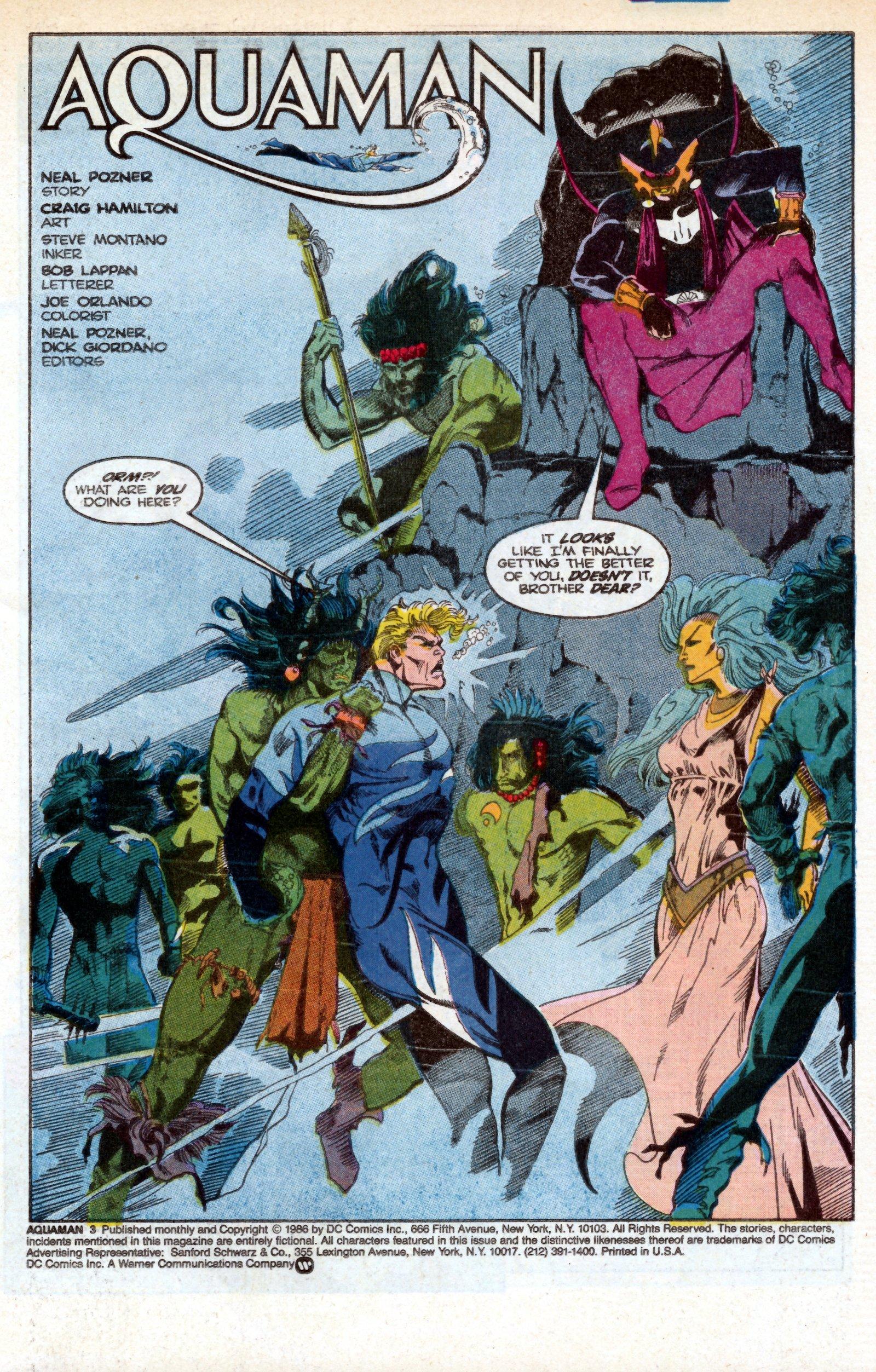 Read online Aquaman (1986) comic -  Issue #3 - 3