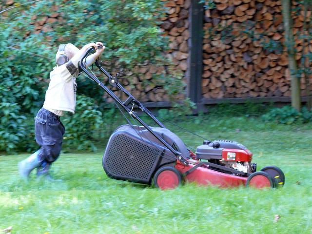 Tagebuch Des Kleinen Finn Luca Samstag 04 09 10 Rasen Mahen Und