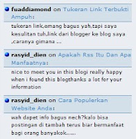 Menampilkan Recent Comments