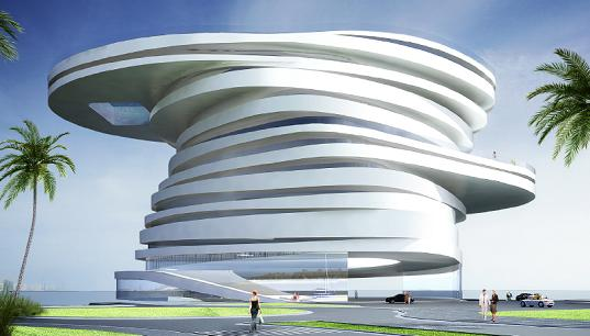 Helix Hotel Architectural Design by Leeser Architects