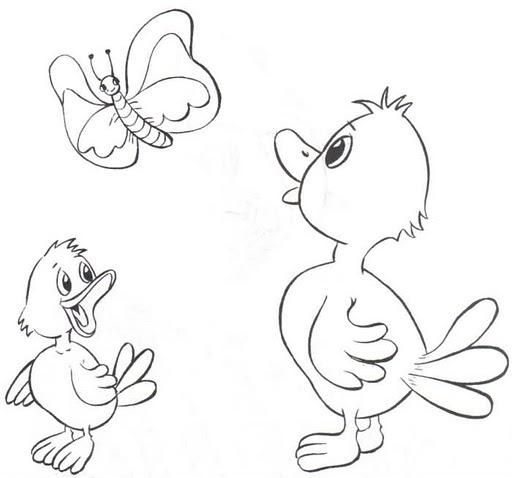 Patitos Infantiles Para Colorear Dibujos De Patitos Tiernos