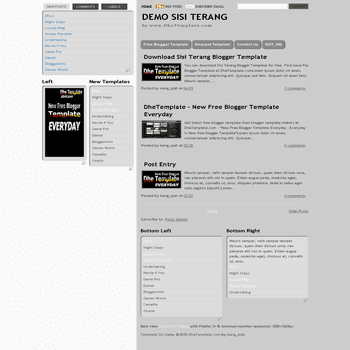 free blogger template Sisi Terang with tabview for blogger ready also 3 column blogger template