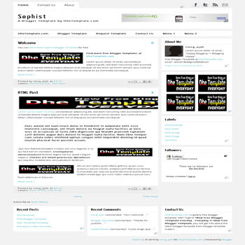 free sophist blogger template with 3 column footer blogger template, seo friendly template blog also ads ready template blog and fast loasing blog template