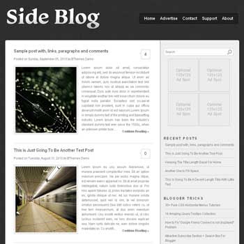 Side Blog blogger template with image slideshow template and pagination for blogger ready. clean template blog. elegant template blogspot blog