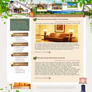 Faith in India blogger template. template blog from wordpress. travel blog template