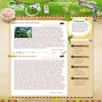 World through Dew blogger template. template blog from wordpress