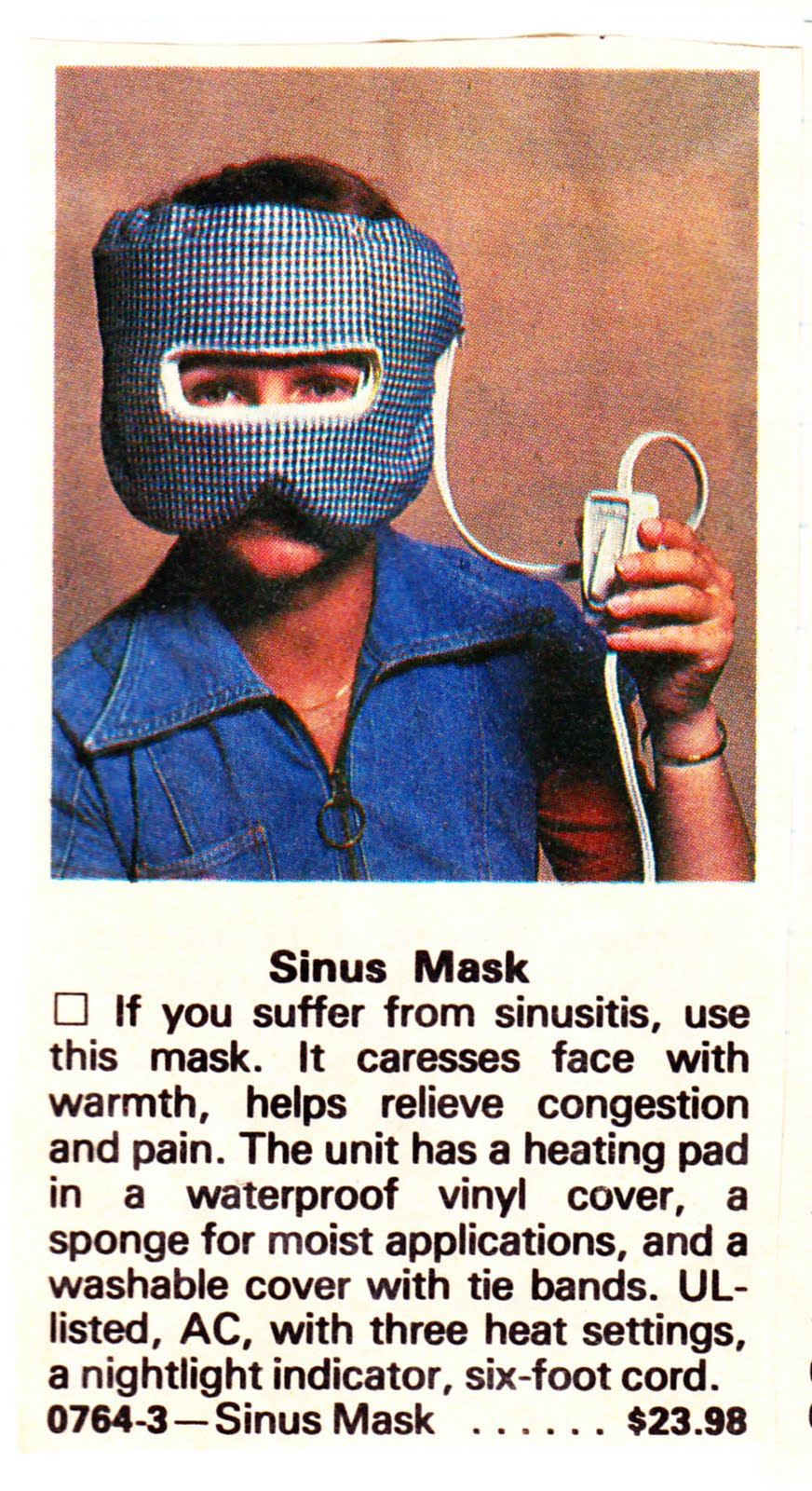Sunbeam Electric Sinus Mask 48