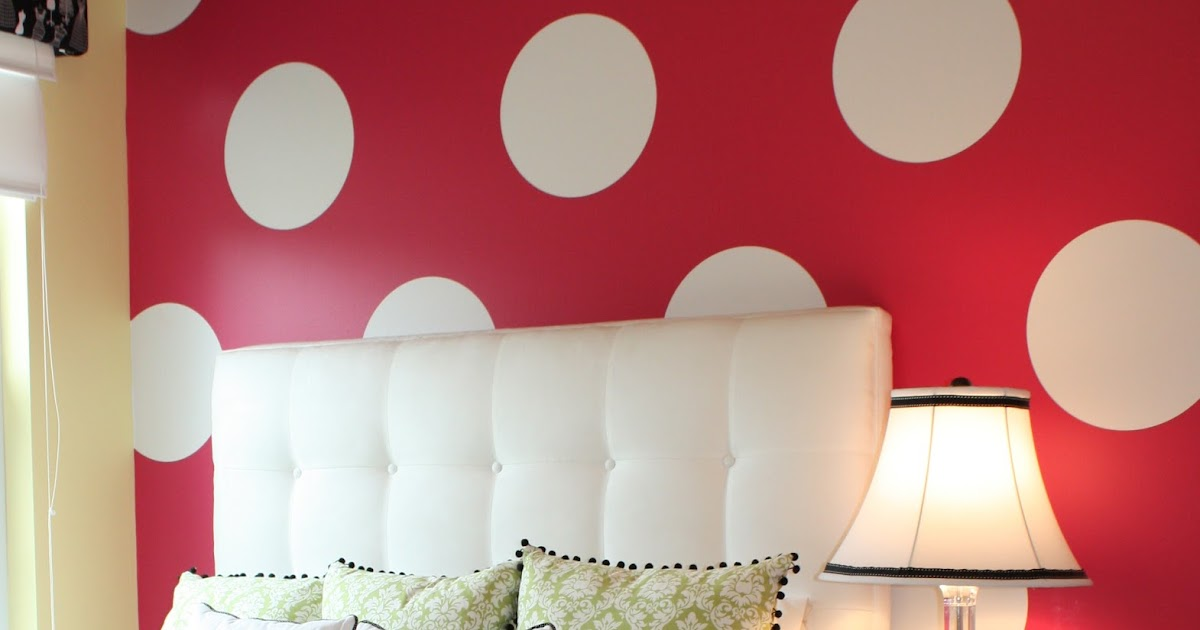 How To Paint Polka Dots On Textured Walls
