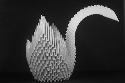 How to make 3d origami Swan 7 part1 - YouTube | 267x400