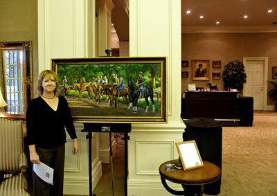 thoroughbred painting