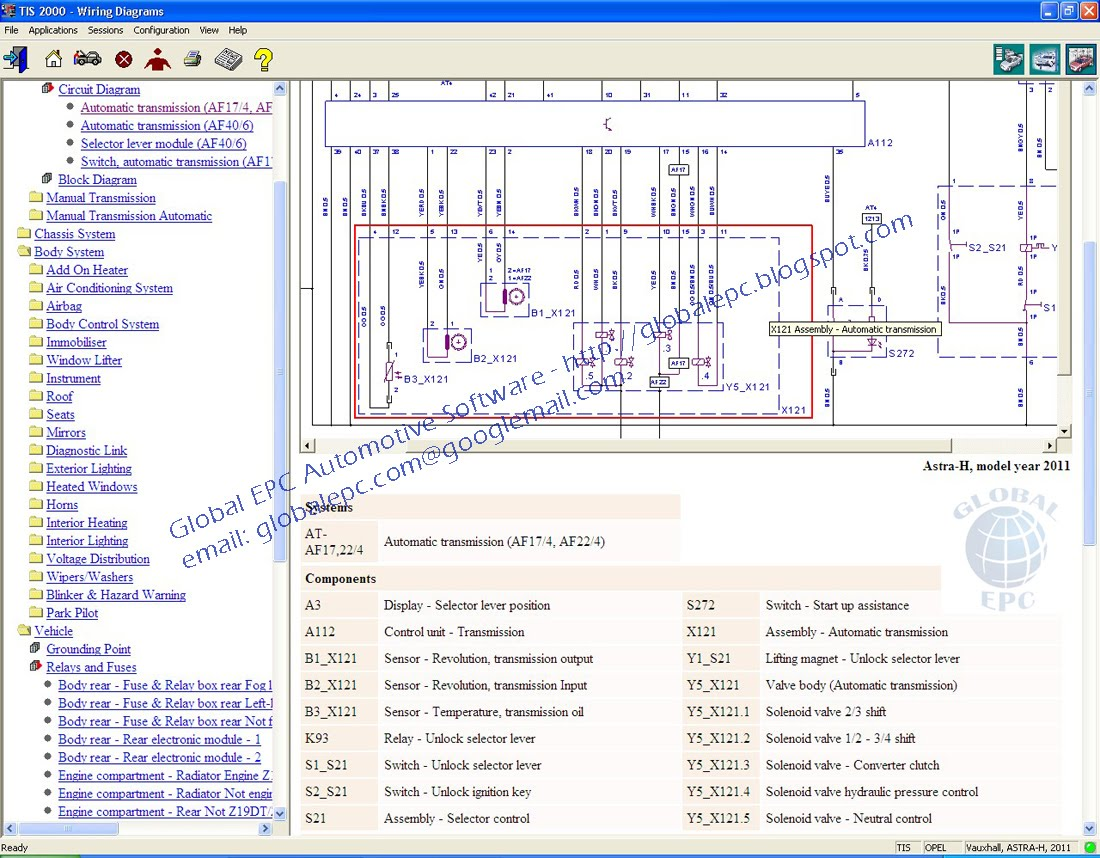 Opel Tis Wiring Diagrams 2011 Auto Electrical Diagram Start Global Epc Automotive Software Vauxhall Holden