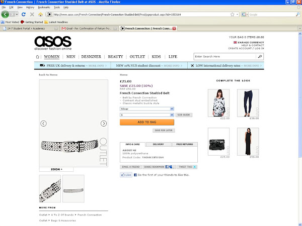 Customer complaint to ASOS