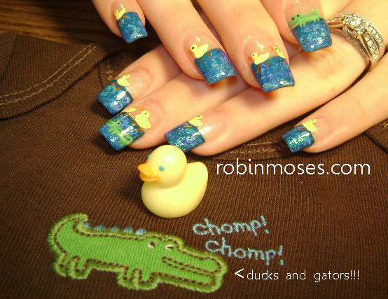 """Nail Art Design: robin moses baby shower """"baby shower nail"""
