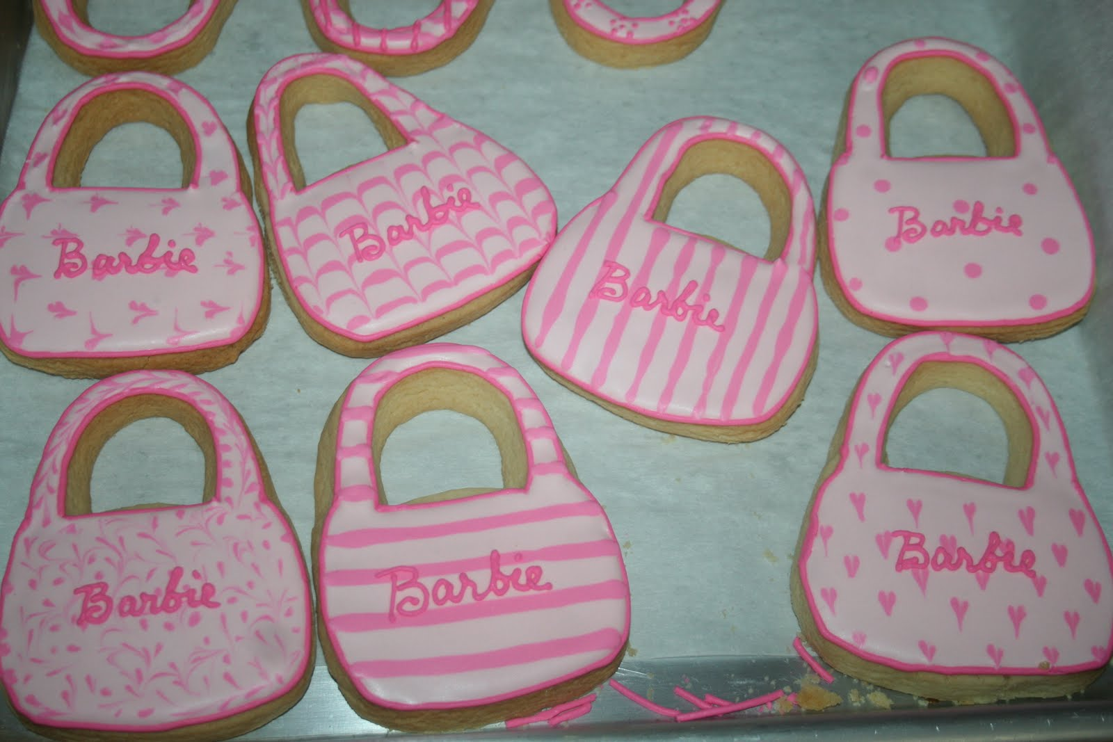 Cakes And More Barbie Purse Cookies