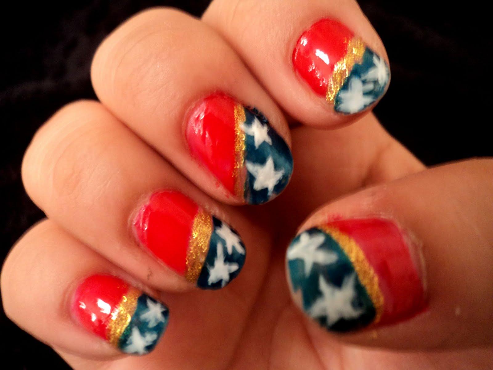 MixedMama: Wonder Woman Nails