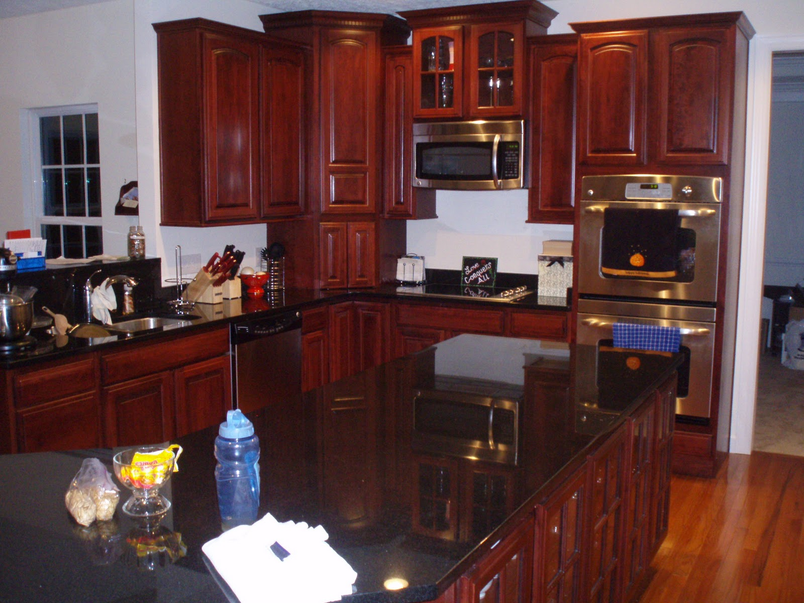 Lucky in Love: House Pictures! on Dark Granite Countertops With Dark Cabinets  id=69375