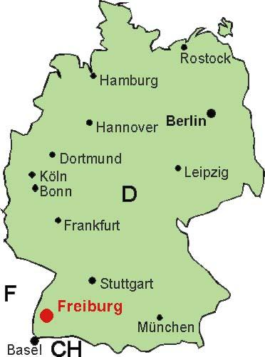 Mapa Freiburg Mapa