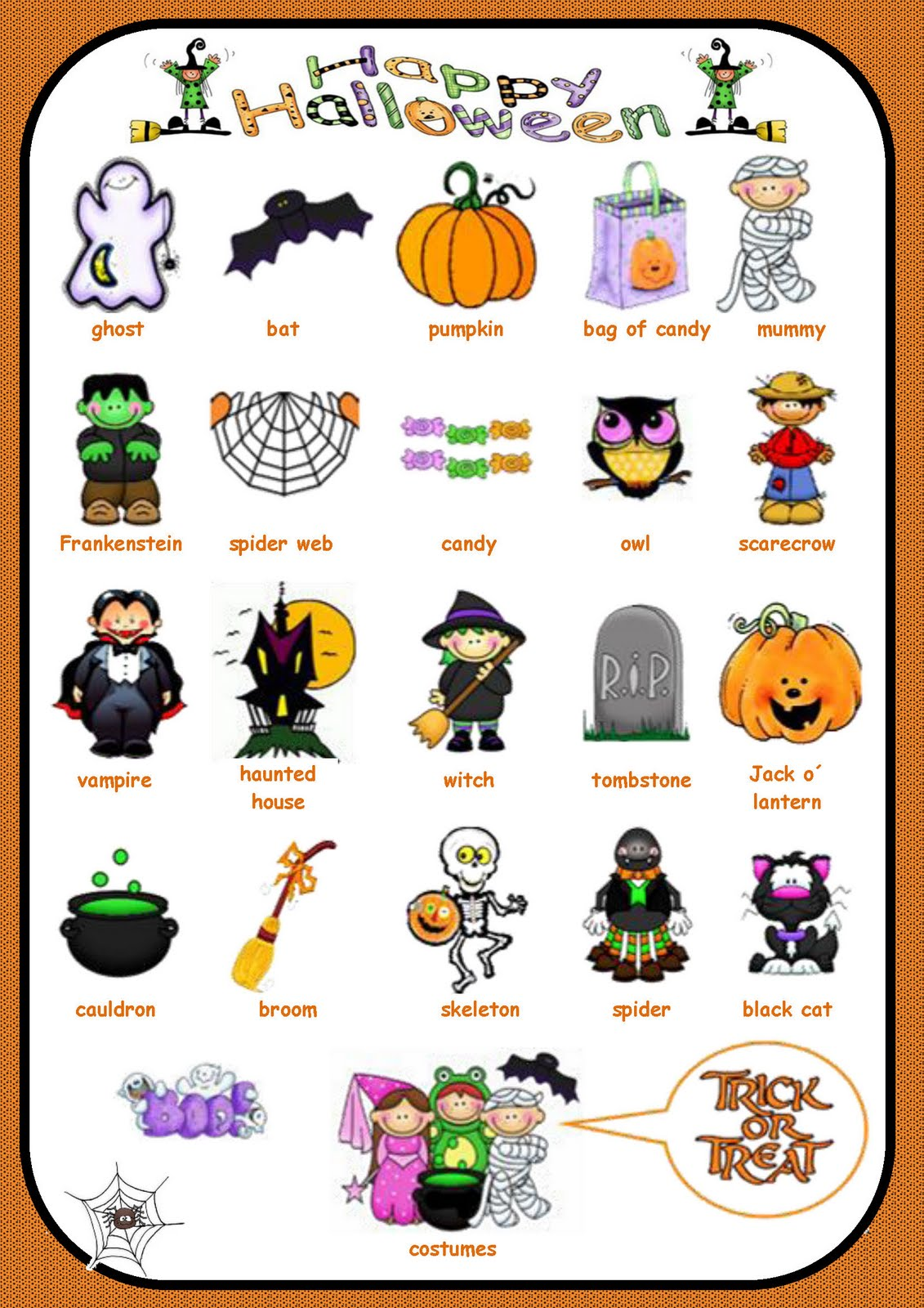 Kids Are Kids Halloween Vocabulary