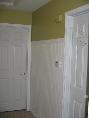 Life on an artistic shoestring at Highland Hill Revealing hallway beadboard