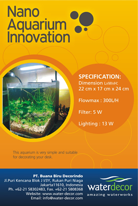 Nano Aquarium Innovation  Waterdecor SPLASHNEWS  informasi seputar dekorasi air mancur