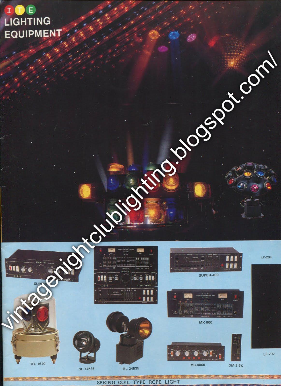 vintage night club lighting ite inter trade electronic ltd catalogues