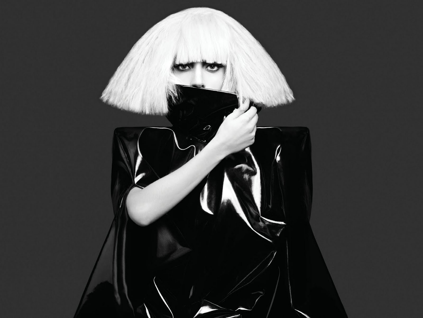 Lady GaGa Pictures: Lady Gaga Black and White