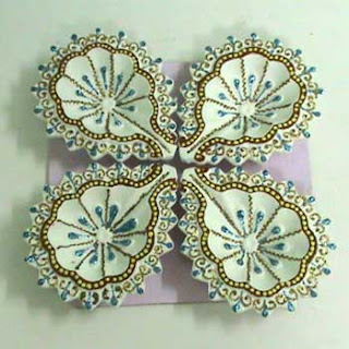 flower design diya