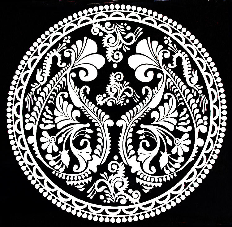 Dora 39 s unique touch alpona art to decorate the floors - Design art black and white ...