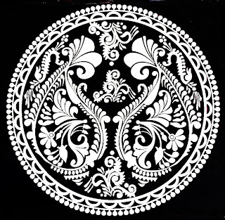 white alpona design