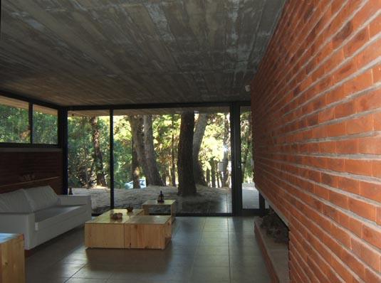Casa de ladrillos bak arquitectos tecno haus - Ladrillo visto interior ...