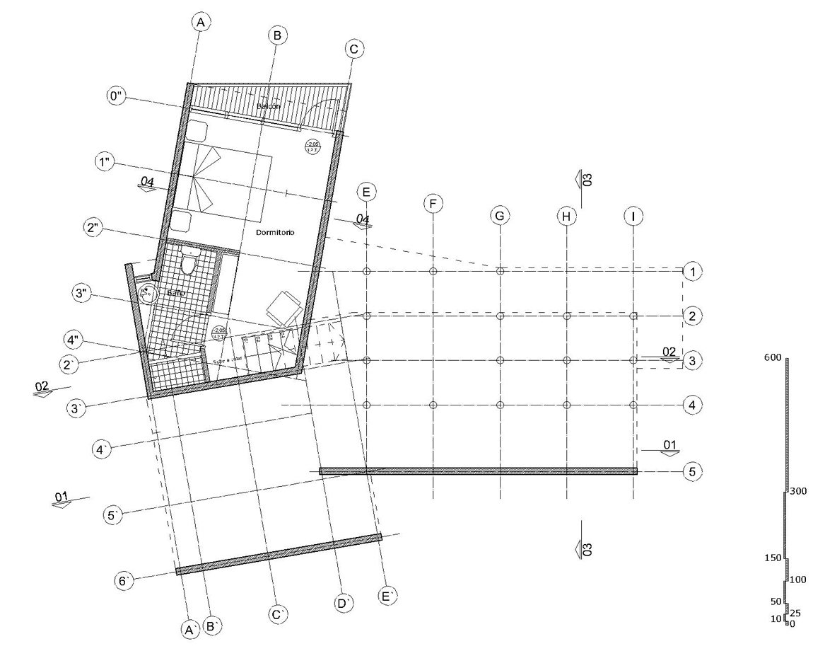 Casa en pirque 332 arquitectos tecno haus for Ejes arquitectonicos