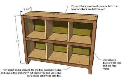 Just Blenda Storage Ideafurniture Plans 6 Cube Bookshelf