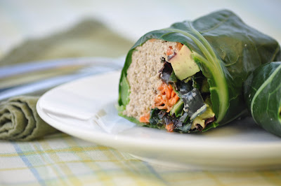 nourishing meals collard wraps with raw sunflower pate. Black Bedroom Furniture Sets. Home Design Ideas