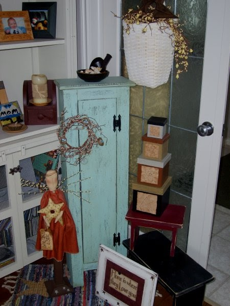 Designs by Marnie Perry Distressing a Pine Cupboard